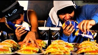 Taco Bell Doritos Locos Eating Competition!