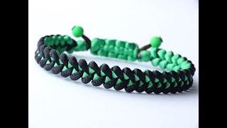DIY Macrame Style Bracelet-Shark Jaw Bone/Square Cobra Knot Sliding Sistem-CBYS