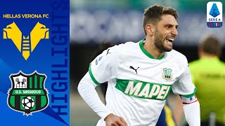 Hellas Verona-Sassuolo 0-2, highlights