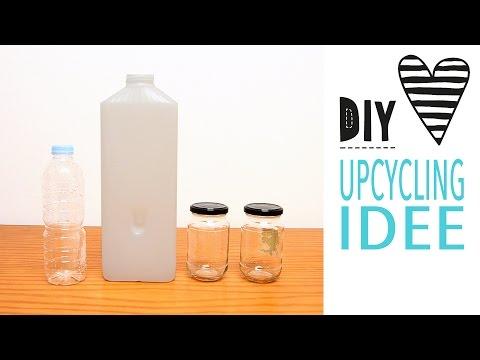 DIY Upcycling Idee / Nähen für Gläser und Flaschen