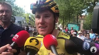 """Mike Teunissen dolblij met ritzege Wout van Aert: """"Bevestiging van een heel goede keuze"""""""