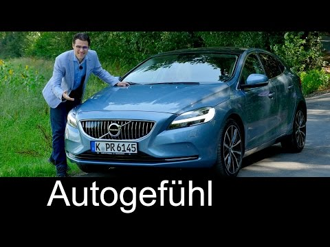 Volvo V40 Facelift with Thor's hammer FULL REVIEW test driven neu new 2017
