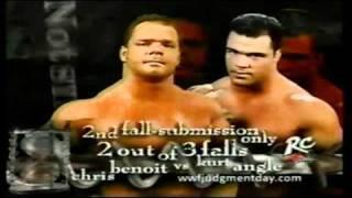 WWF Judgement Day 2001 Matchcard