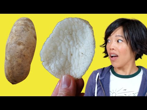 Turn a POTATO 🥔 Into FLUFFY Crispy CHIPS – DIY $1 Snacks