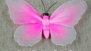 Handmade DIY Nylon Stocking Butterfly Showcase - From New Sheer Creations