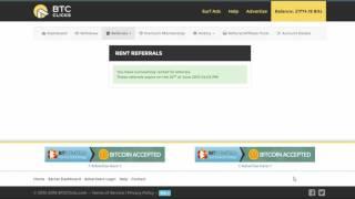 BTCClicks  без вложений зарабатывем биткоины