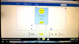 Level 1 Tutorial PhET Balancing Chemical Equations