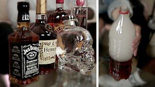 SMOKING ALCOHOL (DRUNKEN MESS)