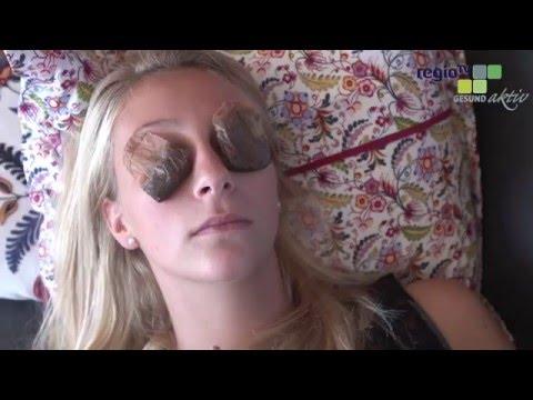 Die Maske für die Person die Hyaluronsäure visage