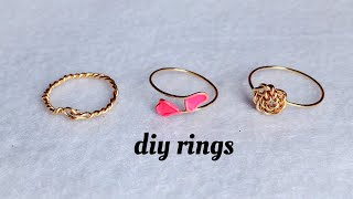 Diy Rings/how To Make Simple And Delicate Stackable Rings At Home/wire Wrapped Rings/handmade Rings