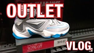 OUTLET VLOG! QUICK TRIP TO MY LOCAL NIKE, REEBOK, SAKS, & LEVIS OUTLET