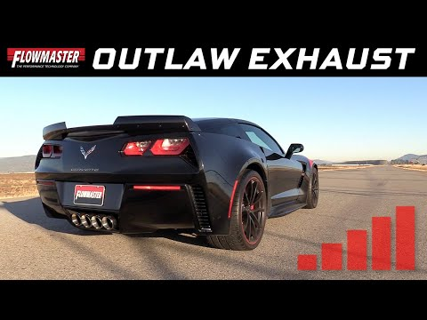 2014-19 Corvette Z06 6.2L with 2V NPP - Outlaw Axle-back Exhaust System 817763