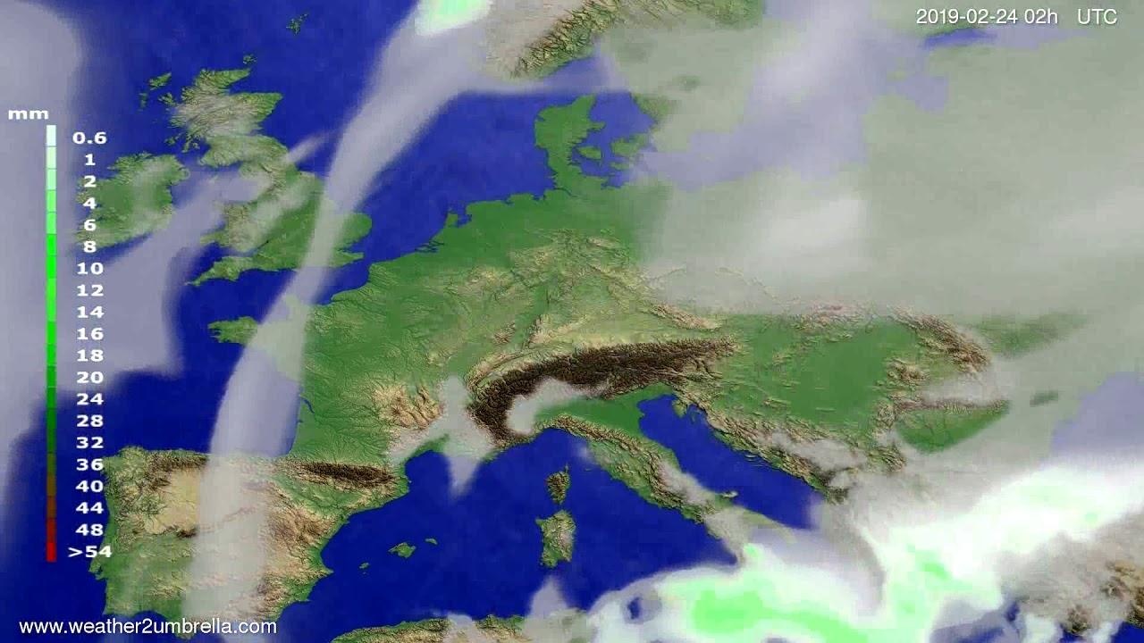 #Weather_Forecast// Precipitation forecast Europe 2019-02-22