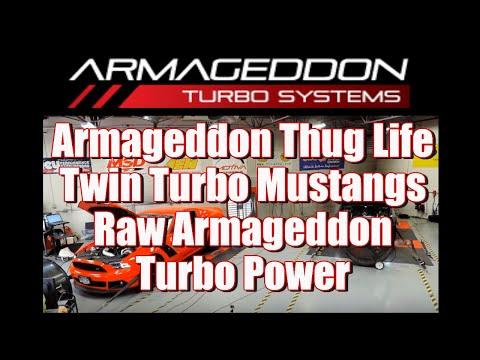 Armageddon Twin Turbo Roush Mustang Dyno! - смотреть онлайн