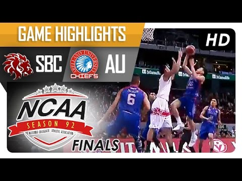 AU vs SBC | Game Highlights | NCAA 92 Finals | October 6, 2016
