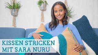 Strickanleitung: Kissen mit Wickelmuster mit Sara Nuru stricken