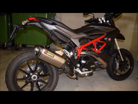 Ducati Hypermotard 821 Akrapovic Exhaust sound-check
