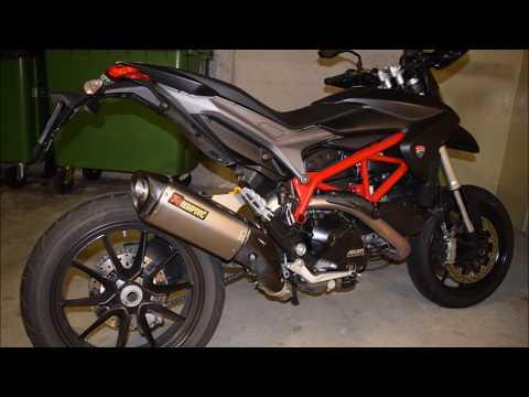 Ducati Hypermotard 821 Akrapovic Exhaust sound-check