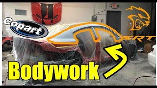 Rebuilding my wrecked charger hellcat part 8