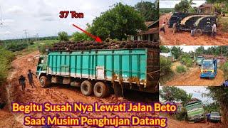 Jalan Simpang Beto Desa Tanjung Medan Barat Sangat Licin Setiap Musim Hujan Datang || 26 April 2020