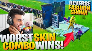 I Hosted A REVERSE Fashion Show! (WORST Skin Combo Wins!) - Fortnite Battle Royale Skin Contest