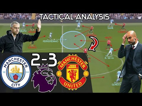 Mourinho's 2nd Half Comeback Win Vs Pep EXPLAINED: Manchester City 2-3 Man United - Tactics Analysis