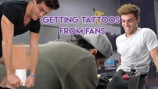 GETTING TATTOOS FROM FANS!