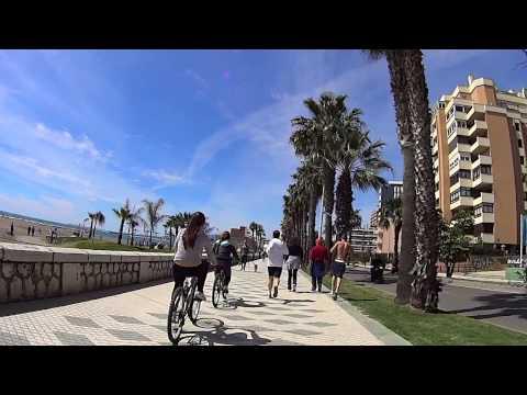 Chiringuitos de La Caleta en bici, hacia Poniente