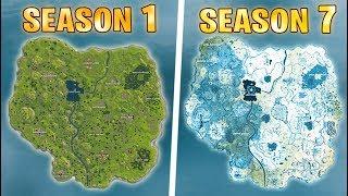 Evolution of the entire Fortnite island