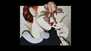 Mysterious Partial Half Face! Anonymous Women Portrait Art Paintings Drawings! Woman Female