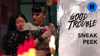 Good Trouble Season 2 Holiday Special | Sneak Peek: Whiskey & Croutons | Freeform