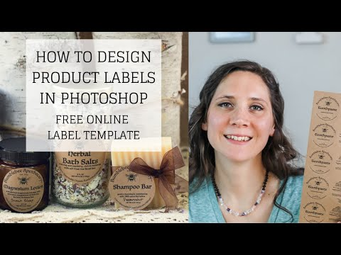 Free Online Label Template | HOW TO DESIGN PRODUCT LABELS IN PHOTOSHOP | Bumblebee Apothecary