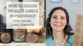 Free Online Label Template   HOW TO DESIGN PRODUCT LABELS IN PHOTOSHOP   Bumblebee Apothecary