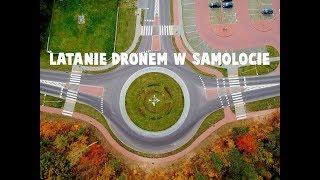 Latanie dronem w samolocie i startowanie dronem z łódki