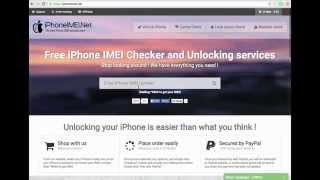 Factory unlock iPhone with iPhoneIMEI.Net