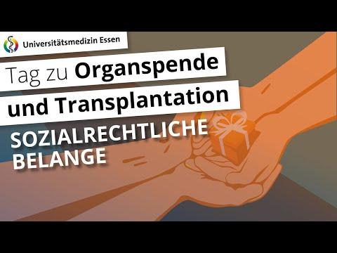 Sozialrechtliche Belange bei Organspende und Transplantation