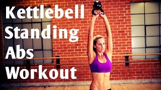 10 Minute Kettlebell Standing Abs No Crunch/No Plank Workout by BodyFit By Amy