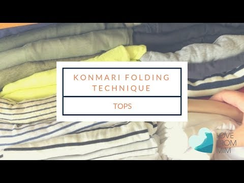 Marie Kondo Konmari Folding Technique - Tops   lovefrommim.com