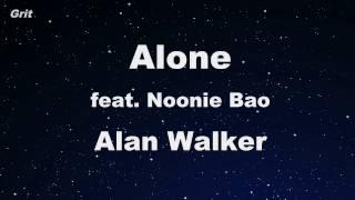 Alone - Alan Walker Karaoke 【With Guide Melody】 Instrumental