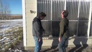 Home built passive solar air heater