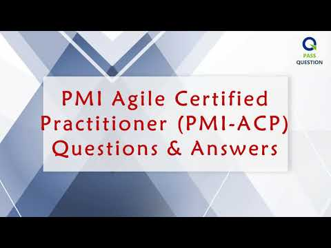 PMI Agile Certified Practitioner (PMI-ACP) Real Questions - YouTube