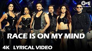 Race Is On My Mind (Lyrical) Saif Ali K, Bipasha, Katrina K, Anil K, Akshaye K   Sunidhi C, Neeraj