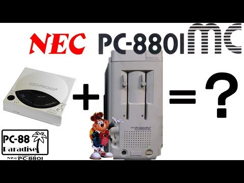 The NEC PC-8801MC - Another use for your TurboGrafX CD rom drive (PC-88 Paradise)