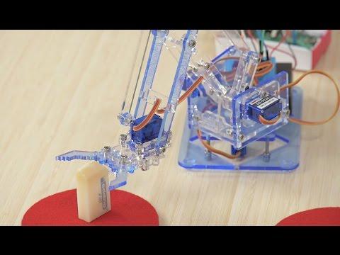 Einen Roboter-Greifarm basteln und programmieren | Auszug aus: Raspberry Pi – Der Video-Kurs