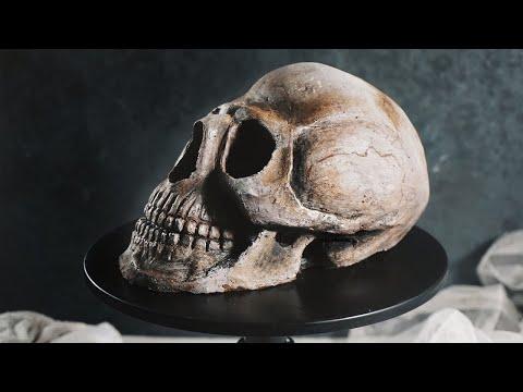 Как собрать торт череп