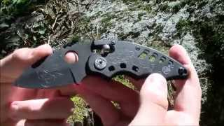 preview picture of video 'SR Columbia 219B Folding Knife Cut Test'