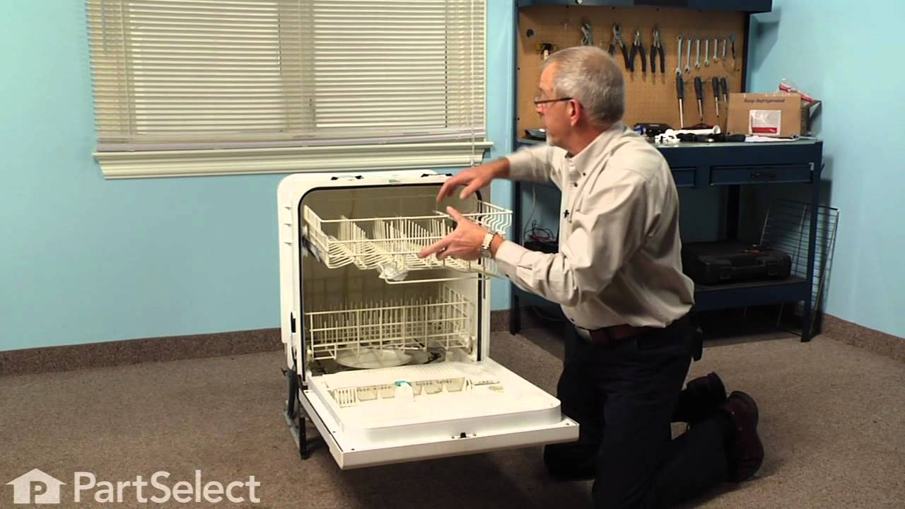 Replacing your Kenmore Dishwasher Upper Dishrack with Middle Arm and Tube