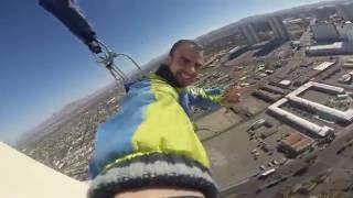 Прыжок с небоскреба в Лас-Вегасе