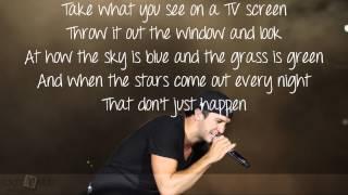 That Don't Just Happen- Luke Bryan lyrics