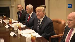 President Trump Meets with Servicemembers